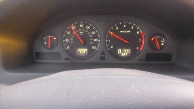 mileage on the vehicle
